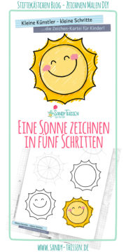 Wie zeichne ich eine Sonne? - kostenlose Zeichenkartei für Kinder