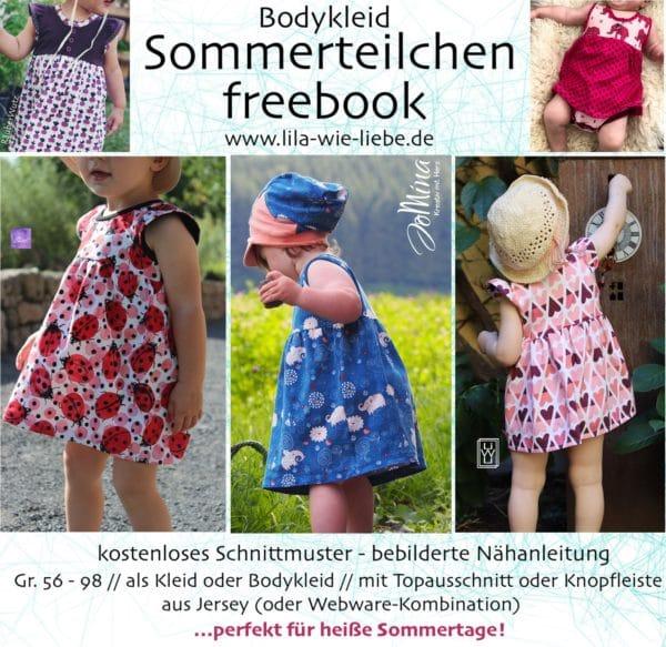 """Bodykleid """"Sommerteilchen"""" nähen"""