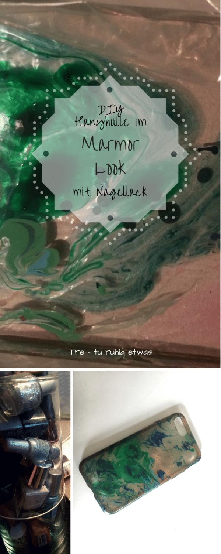 DIY Handyhülle im Marmor Look mit Nagellack gestalten