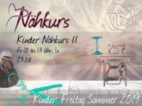 Kinder Nähkurs II August  1x Fr 23.08. 10 - 13.00 Uhr
