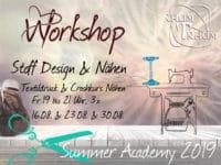 Workshop Stoff Design Textildruck & Crashkurs Nähen 3x Fr Abends 19 - 21.00 Uhr