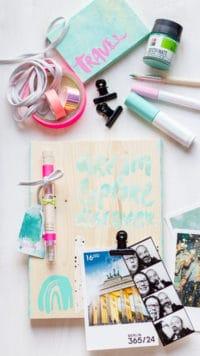easy Sommer DIY | Travel Memory Board inkl. Free-Plotter-Datei