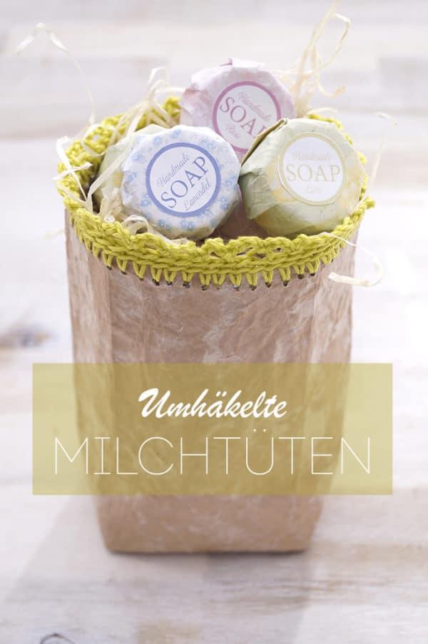 Umhäkelte Milchtüten - Ein prima Upcycling!