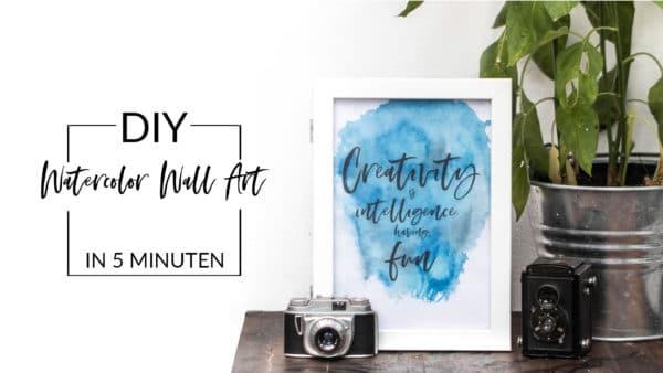 DIY Poster im Watercolor Look