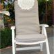 Bezug für Hochlehner Polster für Gartenstühle nähen