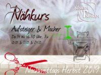 Nähkurs Aufsteiger & Macher 3x Do Nachmittags 14 bis 16.30 Uhr