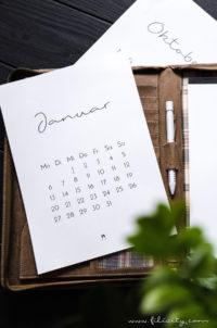 Download: Minimalistischer Wand- & Tisch-Kalender 2020
