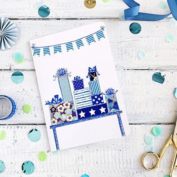 Washi Tape Geburtstagskarte