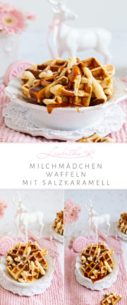 """Milchmädchen Waffeln mit Salzkaramell!"""