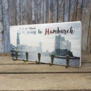 I'm going to Hamburch - elbPLANKE® mit Haken
