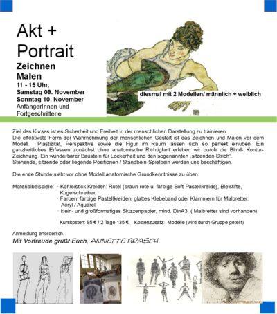 Freies Aktzeichnen + Portrait Hamburg