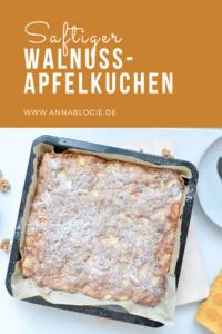 Saftiger Walnuss-Apfelkuchen vom Blech