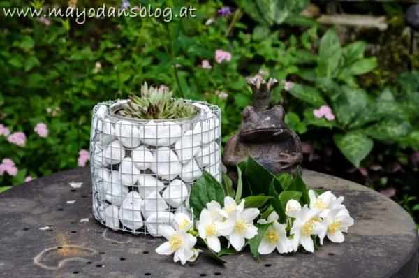 DIY Pflanzbehälter aus Mini-Gabionen