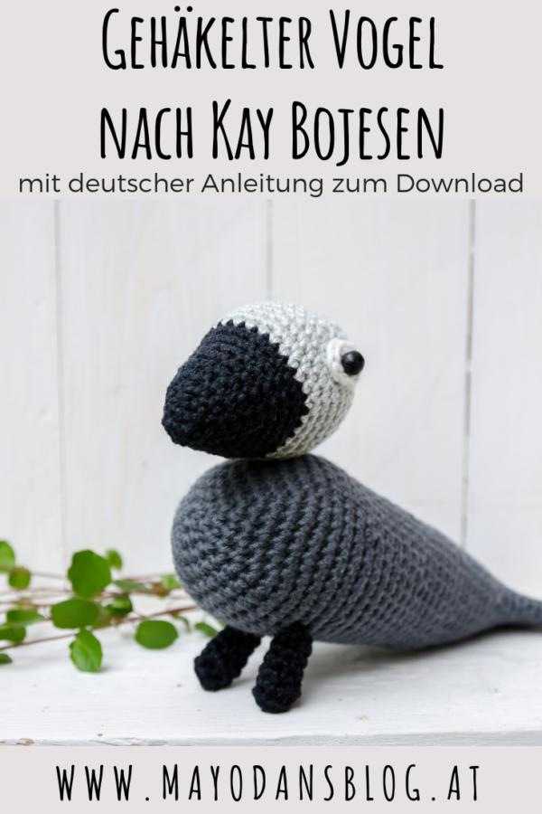 Gehäkelter Vogel nach Kay Bojsen mit deutscher Anleitung