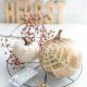 Halloween Deko: Kürbis mit Spinnennetz