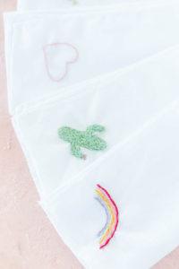 Stofftaschentücher besticken - nachhaltig leben