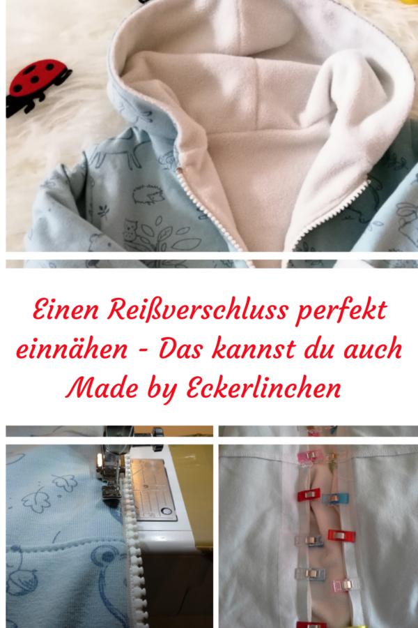 Anleitung Reißverschluss in eine Jacke einnähen