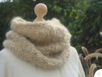 Kragen stricken; warm, weich und super schnell gestrickt