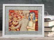 Kunstdruck: literarischer Herbstwald. Ein Geschenk für große Leseratten, kleine Buchliebhaber, phantasievolle Bücherfreunde und Kind gebliebene Bücher Fans