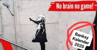 Banksy Streetart Fotokalender 2020