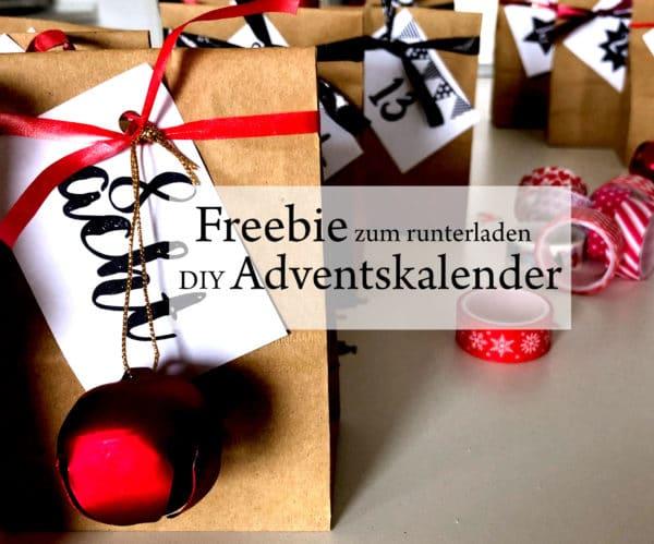 DIY Adventskalender in 2 Varianten: Super easy oder etwas aufwändiger