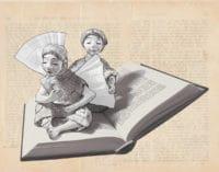 Weihnachtskarte für Bücherliebende: Schutzengel für kleine Bibliophile und große Leseratten