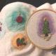 Schöne Weihnachtsanhänger sticken – Stickmotive und Anleitung