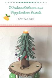 Weihnachtsbaum aus Pappbecher basteln