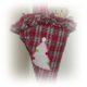Spitztüte mit verkürztem Futter aus altem Oberhemd genäht , mit Rüschchen