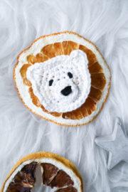 Eisbär Aufnäher häkeln