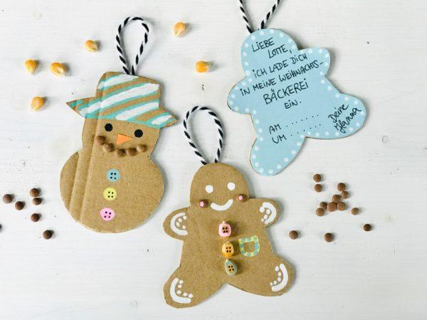 Kindergeburtstag im Winter: Upcycling Einladungskarte