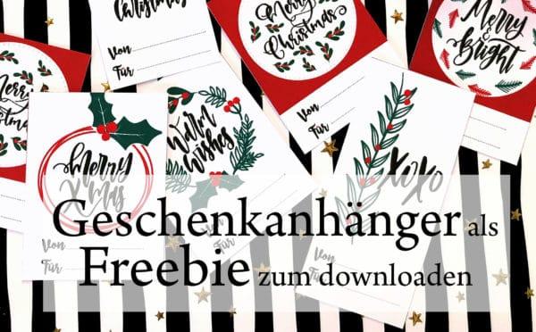 Geschenkanhänger für Weihnachtspäckchen