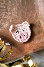 Schweinchen- Aufnäher- kleiner Glücksbringer für Neujahr
