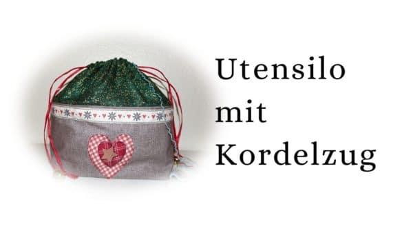 Utensilo mit Kordelzug / Wichtelsack /Geschenkverpackung nähen für Anfänger