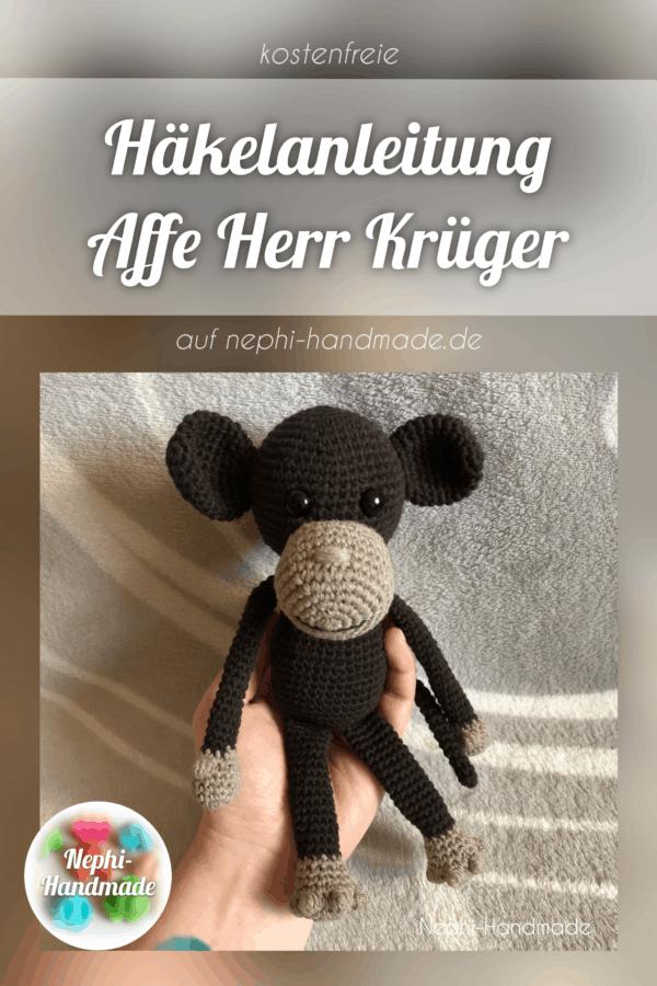 Häkelanleitung Affe Herr Kürger