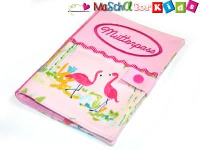 Mutterpasshülle Dekor Flamingo