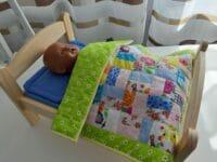 Patchworkdecke Tagesdecke Puppenbett Baby Born Puppenbettwäsche Einzelstück
