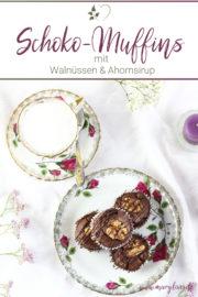 Walnuss-Schoko-Muffins mit Ahornsirup