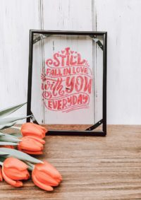 Love Lettering im Rahmen