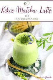 Vegane Kokos-Matcha-Latte
