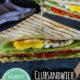 Vegetarisches Clubsandwich mit Avocado und Spiegelei (Fingerfood)
