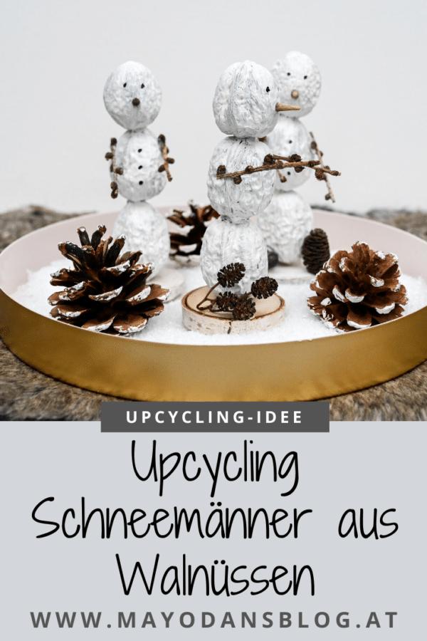 DIY Schneemänner aus Walnüssen - eine entzückende Dekoration für den Winter