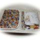 Krimskrams Tasche  , 3 Fächer, mit durchsichtiger Tischfolie nähen, Kosmetiktasche, Windeltasche