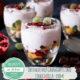 Obstsalat mit Granatapfel und Stracciatella-Creme
