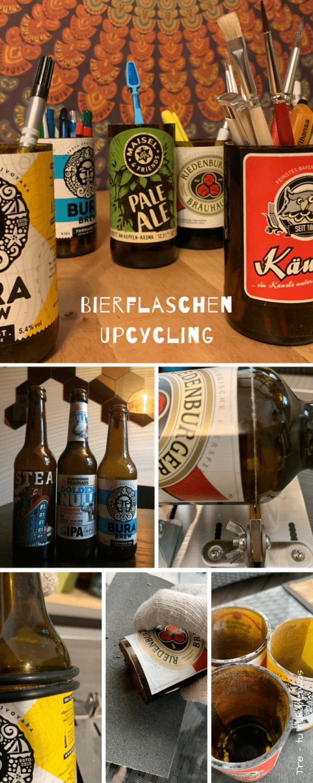 Bierflaschen Upcycling – DIY Stiftebecher