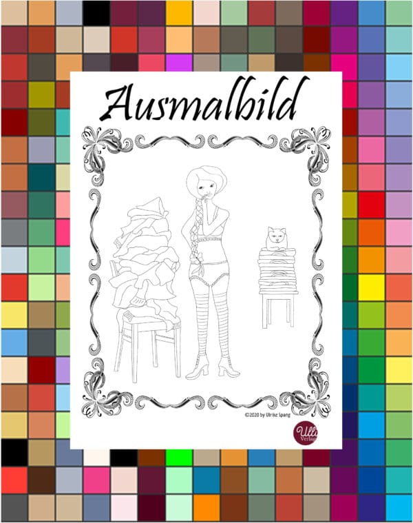 Ausmalbild zum download, freebie
