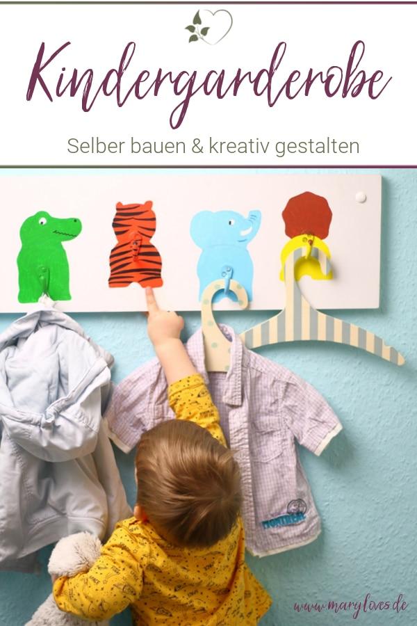 DIY Kindergarderobe mit lustigen Tiermotiven