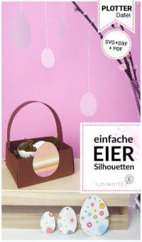 Kostenlose Plotterdatei: Eier-Silhouetten