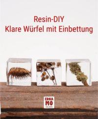 Resin-DIY Würfel mit Einbettung
