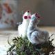 Tutorial für ein gefilztes Huhn für Ostern